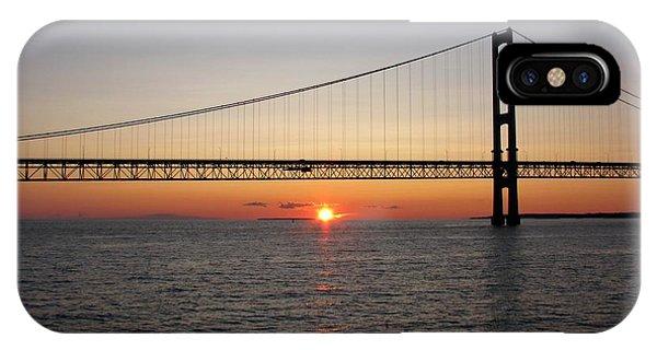 Mackinac Bridge Sunset IPhone Case