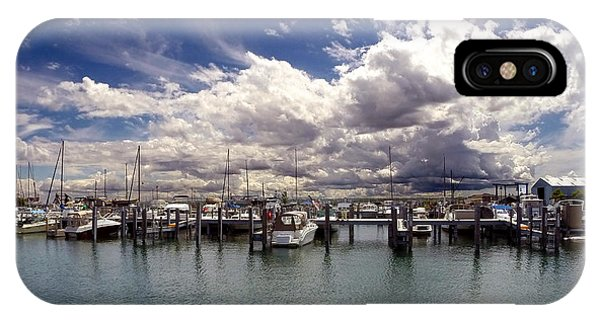 IPhone Case featuring the photograph Mackinaw City Marina by Jackson Pearson