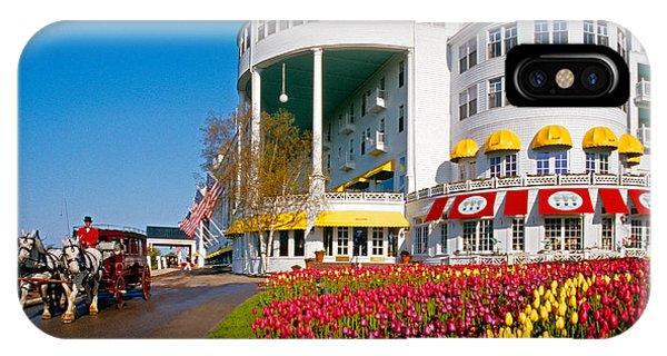 Mackinac Grand Hotel IPhone Case