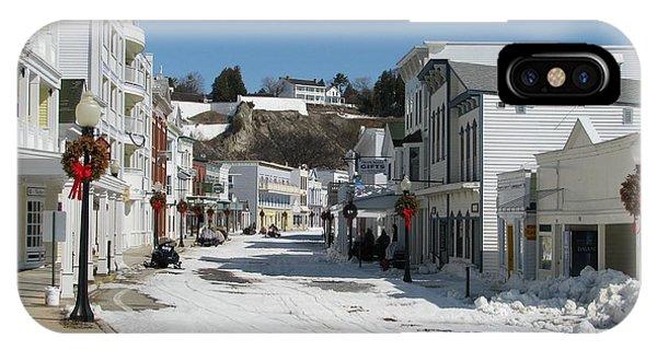 Mackinac Island In Winter IPhone Case