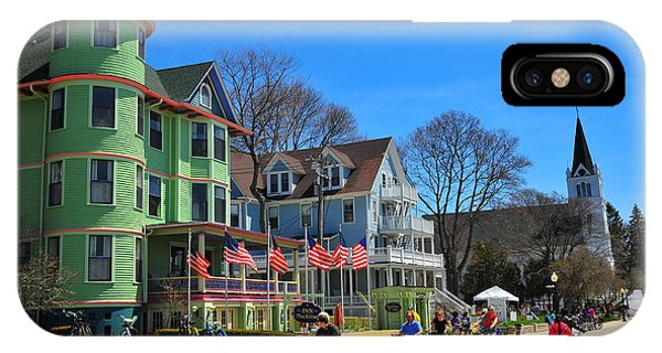 Mackinac Island Waterfront Street IPhone Case