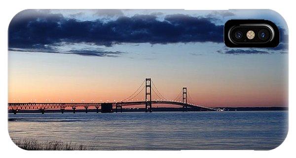 Mackinaw Bridge Twilight IPhone Case