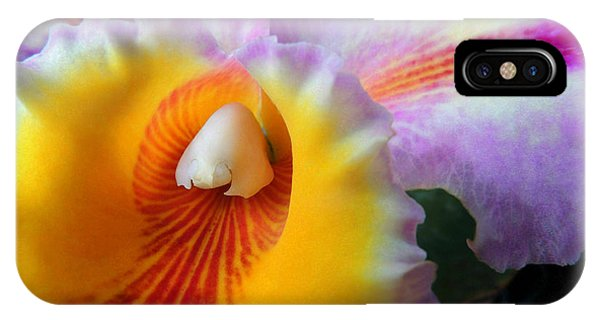Macro Orchid IPhone Case