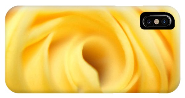 Macro Yellow Rose IPhone Case