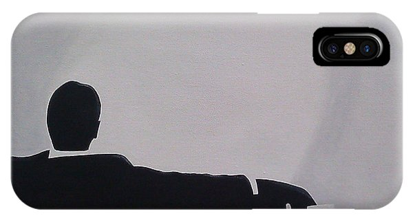 Men iPhone Case - Mad Men In Silhouette by John Lyes