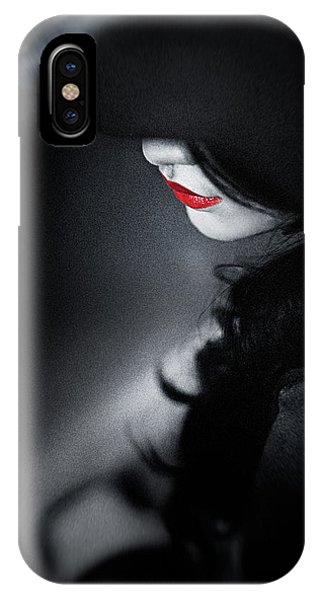 Lips iPhone Case - Madame Noire by David Hendrawan