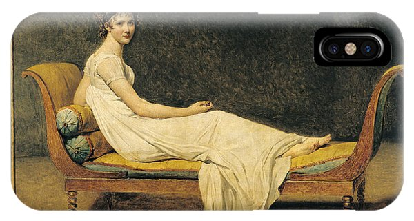 Women iPhone Case - Madame Recamier by Jacques Louis David