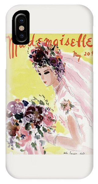 Magazine Cover iPhone Case - Mademoiselle Cover Featuring A Bride by Helen Jameson Hall
