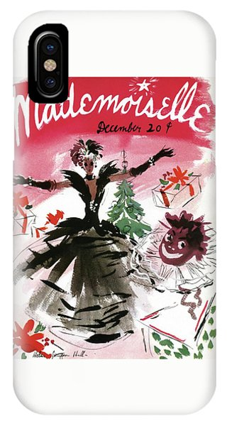 Magazine Cover iPhone Case - Mademoiselle Cover Featuring A Doll Surrounded by Helen Jameson Hall