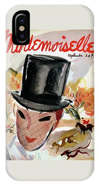 Mademoiselle Cover Featuring A Female Equestrian IPhone Case