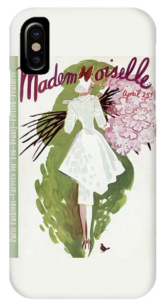 Magazine Cover iPhone Case - Mademoiselle Cover Featuring A Woman Carrying by Elizabeth Dauber