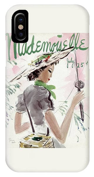 Magazine Cover iPhone Case - Mademoiselle Cover Featuring A Woman Holding by Helen Jameson Hall