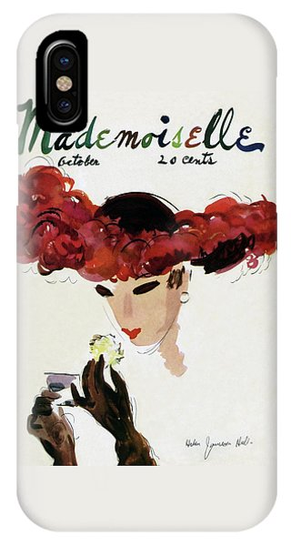 Mademoiselle Cover Featuring A Woman In A Red IPhone Case