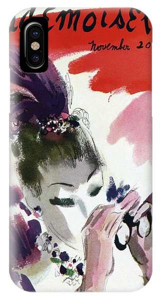 Mademoiselle Cover Featuring A Woman Looking IPhone Case