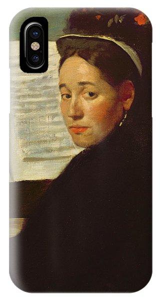 Mademoiselle Marie Dihau At The Piano IPhone Case