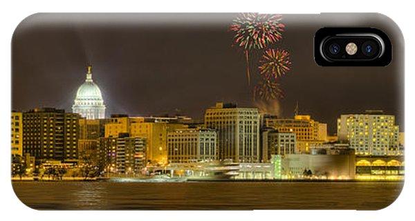 Madison Skyline New Years Eve IPhone Case