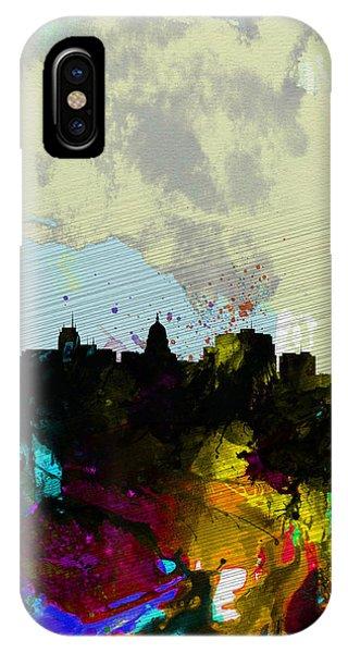 Madison Watercolor Skyline IPhone Case