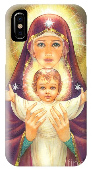 Mary Mother Of God iPhone Case - Madonna And Baby Jesus by MGL Meiklejohn Graphics Licensing