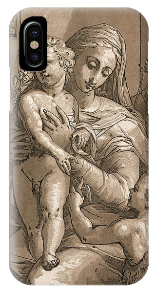 Worship iPhone Case - Madonna And Child by Aged Pixel
