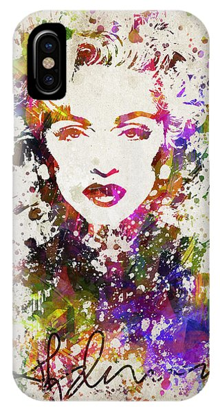 Famous People iPhone Case - Madonna In Color by Aged Pixel