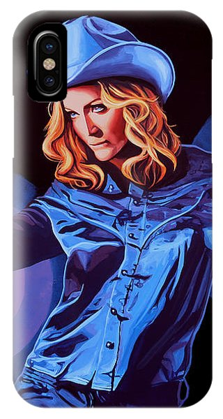 Popstar iPhone Case - Madonna Painting by Paul Meijering