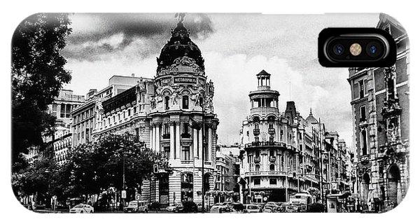 Madrid Metropolis Bw IPhone Case