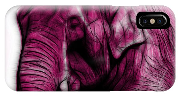 Magenta Elephant 3374 - F - S IPhone Case