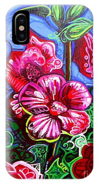 Magenta Fleur Symphonic Zoo I IPhone Case