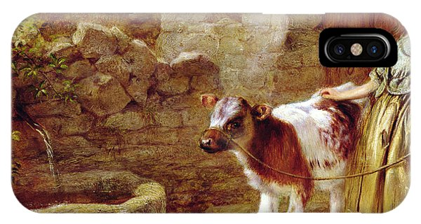 Cow iPhone X / XS Case - Maggie's Charge by John H Dell