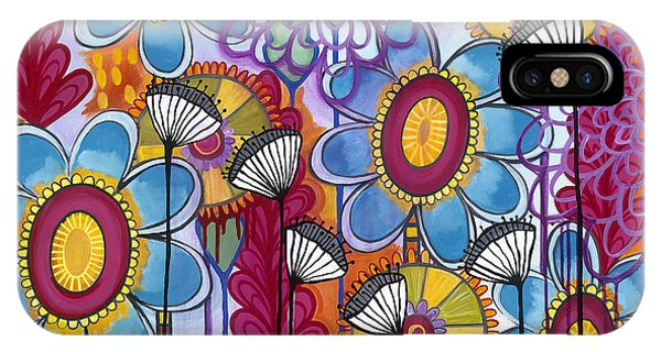 IPhone Case featuring the painting Magic Garden by Carla Bank