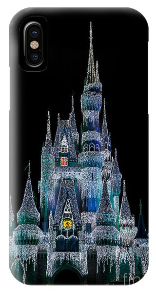 Magic Kingdom Castle Frozen Blue Frost For Christmas IPhone Case