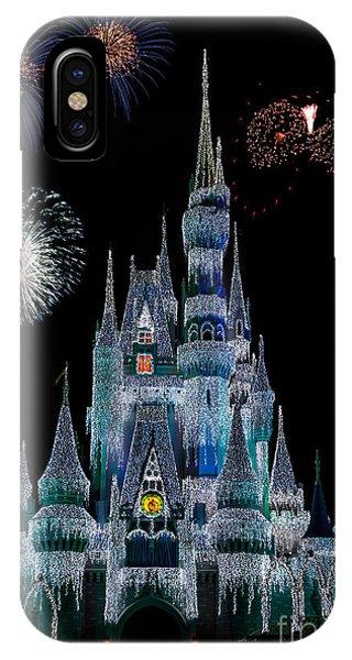 Magic Kingdom Castle Frozen Fireworks IPhone Case