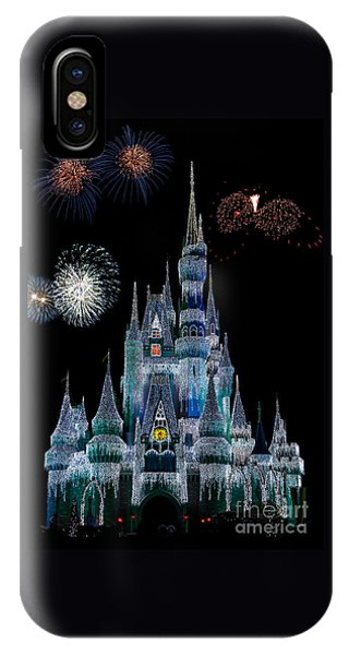 Magic Kingdom Castle Frozen Fireworks IPhone Case