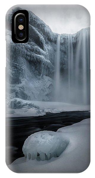 River Flow iPhone Case - Magic Of Skogafoss by Jose D. Riquelme