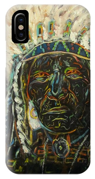 Magic Powers,  Native American Indian Chief IPhone Case