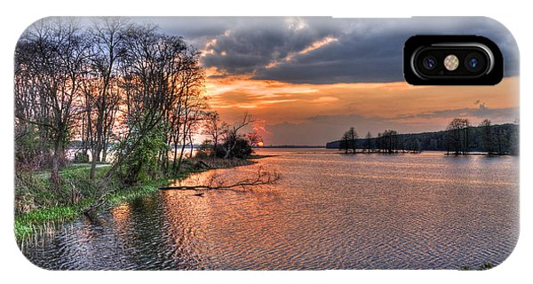 Magic Sunset Over Zegrze Lake Near Warsaw In Poland IPhone Case