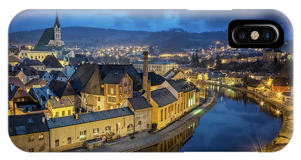 Night iPhone Case - Magical Cesky Krumlov by Petr Kub?t
