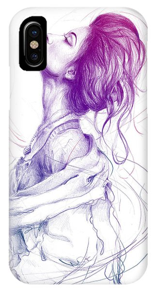 Vibrant iPhone Case - Purple Fashion Illustration by Olga Shvartsur