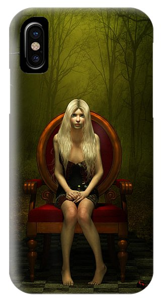 Gothic iPhone Case - Magical Red Chair by Britta Glodde
