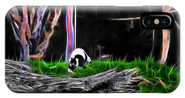 Walk In Magical Land Of The Black And White Ruffed Lemur IPhone Case