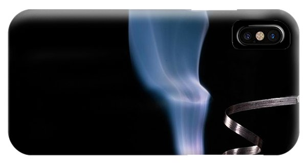 Atomic iPhone Case - Magnesium Ribbon Burning In Air by Science Photo Library