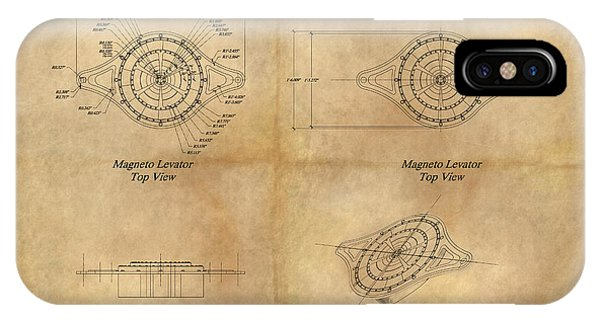 Magneto System Blueprint IPhone Case