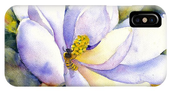 Magnolia And Bumble Bee 2 IPhone Case