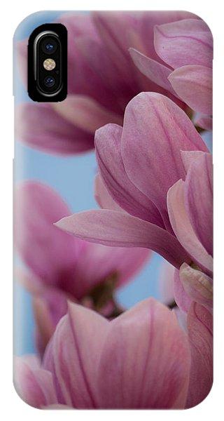 Magnolia On Blue Sky IPhone Case