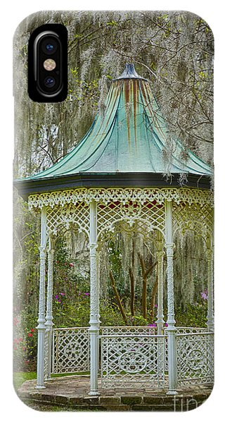 Magnolia Plantation Gazebo IPhone Case