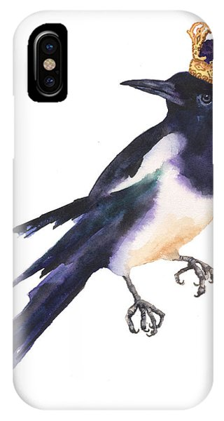 Magpie Watercolor IPhone Case