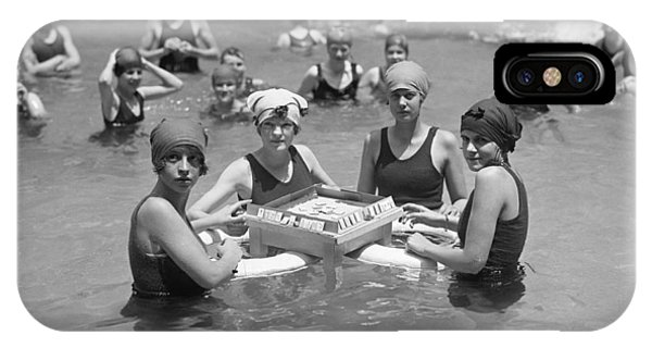D.c. iPhone Case - Mah-jong In The Pool by Underwood Archives