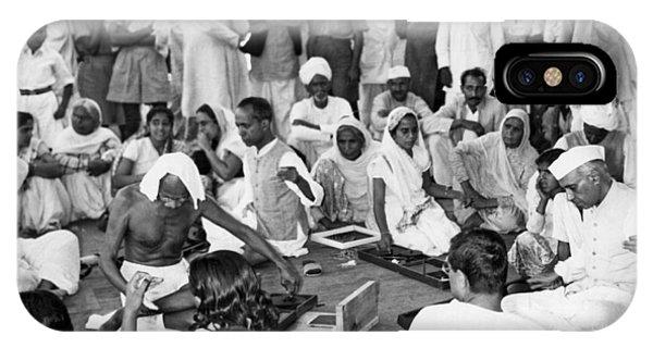 British Empire iPhone Case - Mahatma Gandhi And Nehru by Underwood Archives