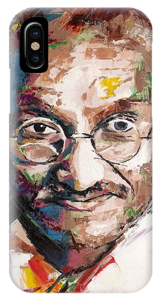 Different iPhone Case - Mahatma Gandhi by Richard Day