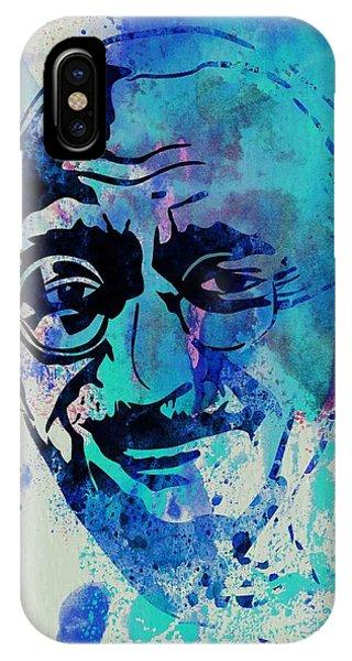 Leader iPhone Case - Mahatma Gandhi Watercolor by Naxart Studio